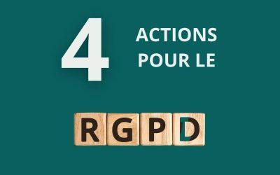 4 actions pour être en règle avec le RGPD