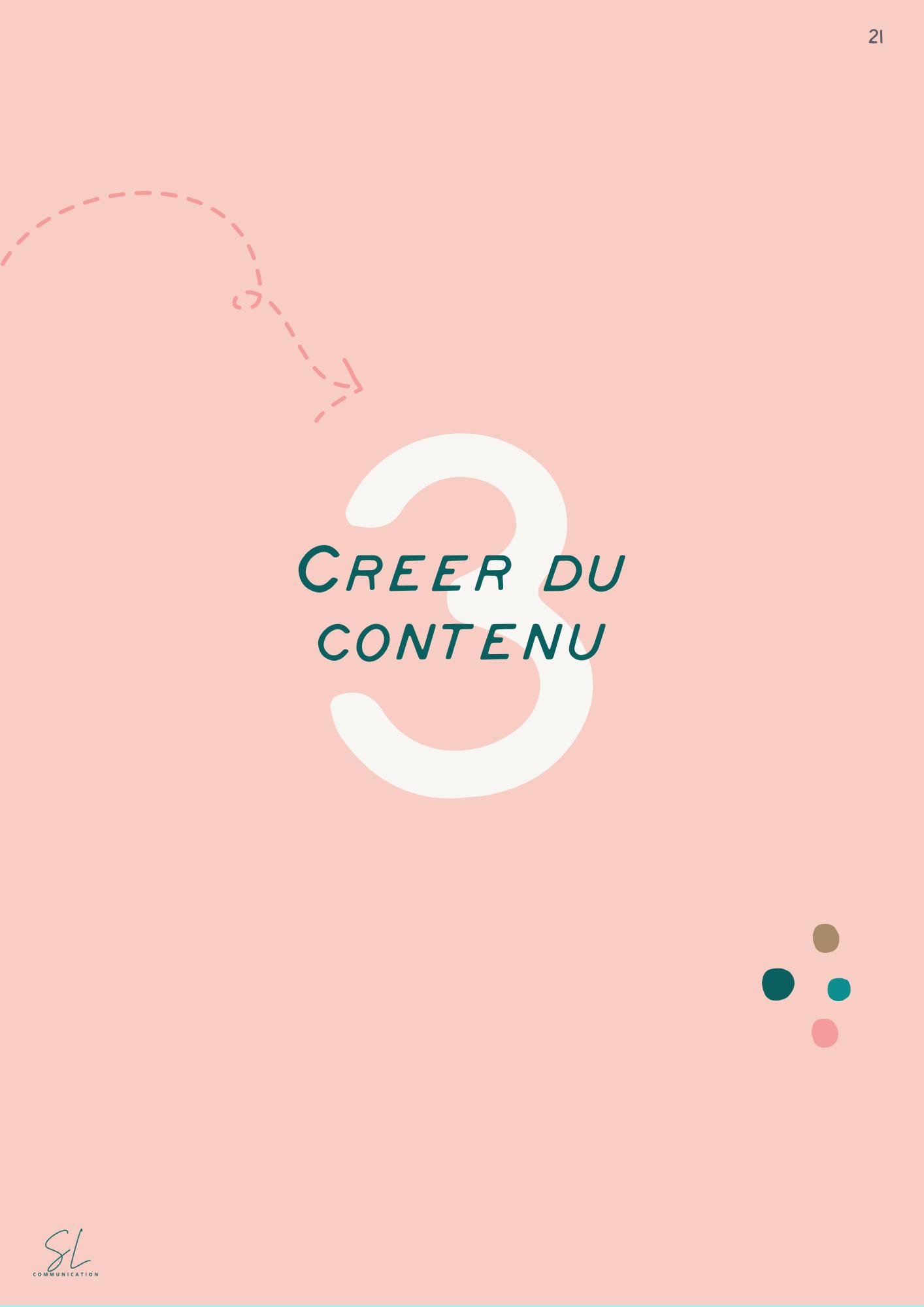 création de contenus